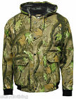 Camouflage Tree Print Hooded Camo Bomber Jacket Hunting Fishing Outdoor