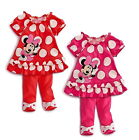 Girls Minnie Mouse Clothes Baby Top Dress Pants Legging Set 6M-3Y Summer Outfit