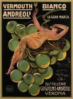 Vermouth Bianco Andreoli 1921 - Italy Italian drink vintage old repro poster