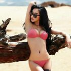 Hot Womens Halter Tie Metal Push UP Padded Bikini Swimsuit Swimwear Beach Wear
