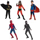 Kids Boy Girl Superhero Carnival Fancy Dress Costume Party Outfit Clothes Set