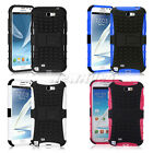 For Samsung Galaxy Note II 2 i317 N7100 KICKSTAND Hybrid Hard Rubber Case Cover