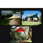 NEW TRIANGLE OUTDOOR SUN SAIL SHADE CANOPY COVER - SAND GREEN RED