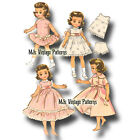 Vtg 50s Pattern to make Doll Clothes Dress Nightgown Robe for 8