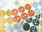 Mini Sticker Pack, 34mm Round Star Labels Plastic Decorative Gift Wrap Seals