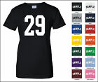 Number 29 Twenty Nine Sports Number Woman's Jersey T-shirt Front Print