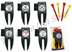 GOLF TEES, PITCH FORK, CLUB CLEANER PACK - New Golfers Gift Prize BADGE CHOICE