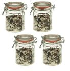 Glass Clip Top Airtight Clipseal Vintage Spice Herb Storage Jars + 2 Free Seals