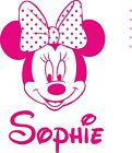 Minnie Mouse Personalised Wall Art Girls Bedroom Sticker