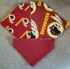WASHINGTON REDSKINS  NFL HOMEMADE 2 SIDED DOG SCARF  (PICK SIZE) on eBay