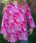 NEW 100% COTTON Womens Kaftan Size 14 16 Kurta Tunic Resort Wear Cover Up