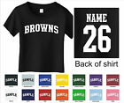 Browns Custom Personalized Name & Number Infant or Toddler T