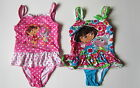 DORA THE EXPLORER SWIMSUIT SWIMMING COSTUME PINK POLKA OR PINK FLORAL  NEW!