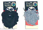 Caribbean Pirate Captain Blackbeard Grey and Black Bushy Beard Fancy Dress