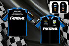 Carl Edwards Fastenal Authentic Mens Embroidered Black Nascar Pit Shirt-JH-13