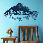 Mirror Carp - Fish Wall Sticker / Aquatic Wall Decal / Fish Wall Transfer fi25