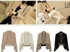 NEW Fashion Womens Spring Casual Korean Long Sleeve Loose Mini Coat Fit US XXS-M