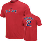 Jacoby Ellsbury Shirt Name/Number Tee by Majestic Boston Red Sox Red ADULT NWT