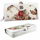 Womens OL Ladies Retro Floral Credit Cards Bag Purse Clutch Wallet Formal Party