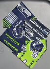 SEATTLE SEAHAWKS  NFL HOMEMADE 2 SIDED DOG SCARF (PICK SIZE) on eBay