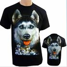 Husky Dog & Puppies T Shirt