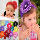 10pcs New Kid Baby Girl Daisy Headband Hairbow Hair Flower Clip Headwear Crochet