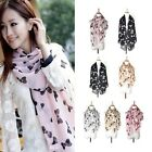 Fashion Women Girl Bowtie Chiffon Feel Scarf Wrap Shawl Stole 3 Colors 160x70cm