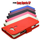6 COLOUR PU LEATHER WALLET BOOK FLIP MOBILE PHONE CASE COVER FOR SONY XPERIA SP