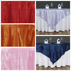 "10 pc 60x60"" Pintuck TABLE OVERLAY Wedding Linen Supply Wholesale Decorations"