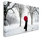 The Red Umbrella 40x20inches Wall Picture Canvas Art Cheap Print