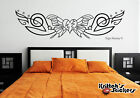 BUTTERFLY WITH STARS Vinyl Wall Decal bedroom decor art pin stripe design B064