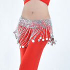 New Belly Dance Costume Coins Hip Scarf Belt Gold/Silver  2 colors