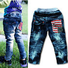New Size 2-7Y Casual Boys Girls Pants Kids Fashion Printing  Jeans  PB043