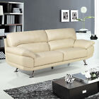 Regent Ivory Cream Leather Sofas Two Piece Suite or 3 Seater and 2 Seater Settee