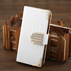 leather Shining Crystal Flip Wallet Bling case cover for Samsung Galaxy S4 I9500