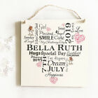 Personalised Typography Christening Wooden Plaque Sign Keepsake Unique Gift W29