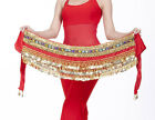 Belly Dance Costume Hip Scarf Belt Chain Velvet  248pcs Golden Coins 9 Colors