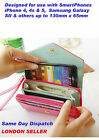 Ladies Crown Purse Wallet Clutch Smart Pouch Case for iPhone 4S & 5 Samsung SII