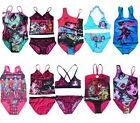 New Girls Kids Eyes Monster High Skull Swimsuit Swimming Swimwear 6-14Y Bathing