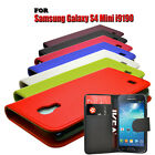 7 COLOUR SOFT WALLET BOOK FLIP CASE COVER FOR SAMSUNG GALAXY S4 MINI i9190 i9195