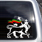 Lion of Judah with Rasta Flag Vinyl Decal reggae ska Bob Marley car sticker K157