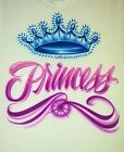 Airbrush T Shirt Princess Crown, Princess Shirt, Tiara Shirt, Airbrush Shirt