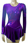 Skating Dress- PURPLE VELVET/ PURPLE CERISE SAMARAI METALIC- ALL SIZES AVAILABLE