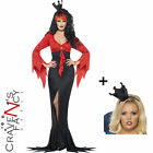 Smiffys Fairytale Evil Queen Dress Fancy Dress Costume Halloween Add Crown Value