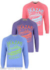 New TOKYO LAUNDRY Crew Neck Sweat Large Printed Bright Sweater Pullover