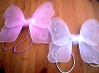 """TINY BABY ANGEL FAIRY WINGS  SPARKLY JEWELED GLITTERY MESH ELASTICATED ARMS 8X8"""""""