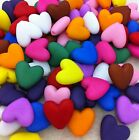 40 MATT Opaque Acrylic HEART Beads 11mm (11 Colour Options)