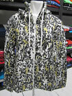 LADIES GIRLS BLACK LEOPARD TIGER PRINTED HOODED JACKET TOP ZIP UP SIZE S M L XL