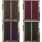 """2 PANELS 40""""x 84"""" LUXURIOUS JACQUARD GROMMETS CURTAINS WINDOW COVERINGS NEW"""