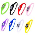 Digital Silicone Rubber Jelly Anion Negative Ion Sport Bracelet Wristwatch